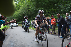 Leah Kirchmann (CAN) of Team Sunweb rides on Ault Hucknall Lane during Stage 4 of the OVO Energy Women's Tour - a 123 km road race, starting and finishing in Chesterfield on June 10, 2017, in Derbyshire, United Kingdom. (Photo by Balint Hamvas/Velofocus.com)