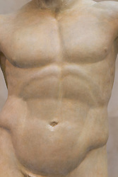 statue of a torso of a man's body