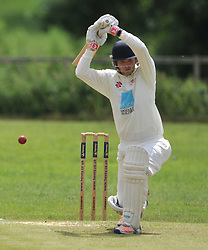 DANIEL HARRIS BATTING OLD NORTHAMPTONIANS, RUSHTON CRICKET CLUB v OLD NORTHAMPTONIANS CC, Station Road Rushton Saturday 25th June 2016