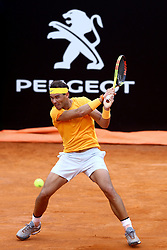 May 18, 2018 - Rome, Italy - Rafael Nadal (SPA) at Foro Italico in Rome, Italy  during Tennis ATP Internazionali d'Italia BNL quarter-finals on May 18, 2018. (Credit Image: © Matteo Ciambelli/NurPhoto via ZUMA Press)