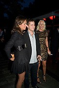 DASHA ZHUKOVA; TY WOOD; LADY SOPHIA HESKETH, The Summer Party. Hosted by the Serpentine Gallery and CCC Moscow. Serpentine Gallery Pavilion designed by Frank Gehry. Kensington Gdns. London. 9 September 2008.  *** Local Caption *** -DO NOT ARCHIVE-© Copyright Photograph by Dafydd Jones. 248 Clapham Rd. London SW9 0PZ. Tel 0207 820 0771. www.dafjones.com.