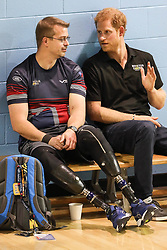 Prince Harry joined competitors at the Pan Am Sports Centre for the final training session before the start of the Invictus games 2017 toronto <br />