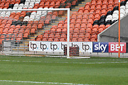Blackpool Sponsors match advertising during the EFL Sky Bet League 1 match between Blackpool and Bristol Rovers at Bloomfield Road, Blackpool, England on 13 January 2018. Photo by Mark Pollitt.
