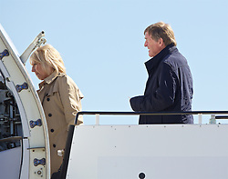 LIVERPOOL, ENGLAND - Monday, May 16, 2016: Liverpool's non-executive director Kenny Dalglish and wife Marina board the team plane to Basel as they fly out of Liverpool John Lennon Airport to Switzerland ahead of the UEFA Europa League Final against Sevilla FC. (Pic by David Rawcliffe/Propaganda)