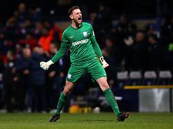 Declan Rudd of Preston North End celebrates his side taking the lead against Bristol City - Mandatory by-line: Robbie Stephenson/JMP - 06/03/2018 - FOOTBALL - Deepdale - Preston, England - Preston North End v Bristol City - Sky Bet Championship