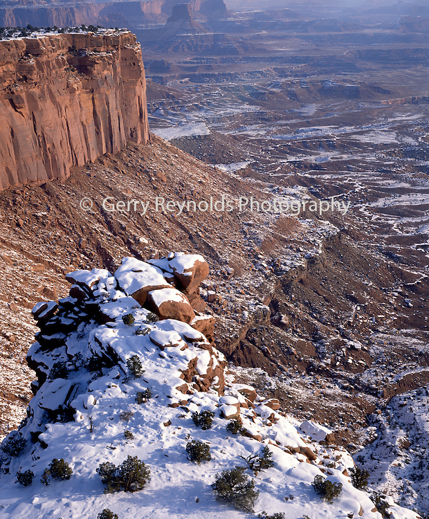 Sunrise, Sunset, Rock Formations, Snow, Winter, Canyonlands, Canyonlands National Park, Utah