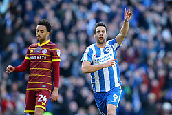 Goal, Sam Baldock of Brighton & Hove Albion scores, Brighton & Hove Albion 1-0 Queens Park Rangers - Mandatory by-line: Jason Brown/JMP - 27/12/2016 - FOOTBALL - Amex Stadium - Brighton, England - Brighton & Hove Albion v Queens Park Rangers - Sky Bet Championship
