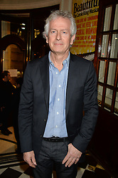 Musician TONY BANKS at Beautiful - The Carole King Musical 1st Birthday celebration evening at The Aldwych Theatre, London on 23rd February 2016.