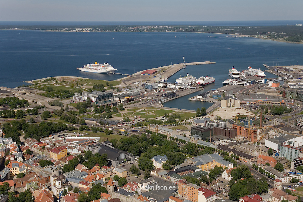 Aerial Picture Tallinn Port by Baltic Sea, Estonia