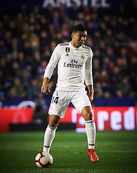 February 24, 2019 - Valencia, Valencia, Spain - Carlos Henrique Casemiro of Real Madrid during the La Liga match between Levante and Real Madrid at Estadio Ciutat de Valencia on February 24, 2019 in Valencia, Spain. (Credit Image: © Maria Jose Segovia/NurPhoto via ZUMA Press)