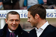 Picture by David Horn/Focus Images Ltd +44 7545 970036<br /> 16/11/2013<br /> Aidy Boothroyd of Northampton Town and Graham Alexander , Manager of Fleetwood Town before the Sky Bet League 2 match at Sixfields Stadium, Northampton.