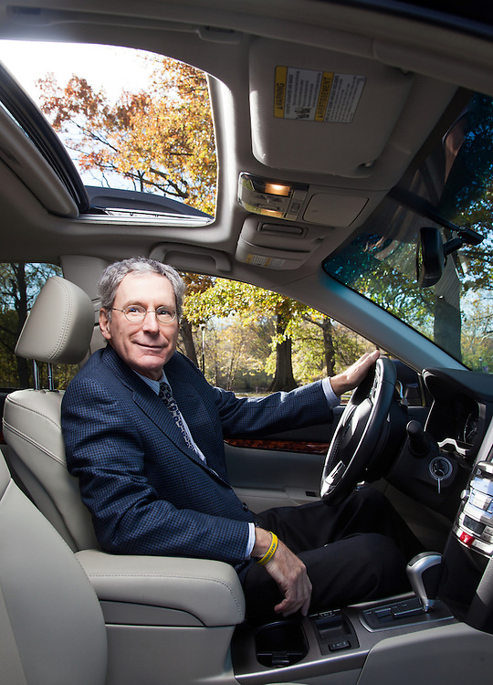 Thomas J. Doll is the executive vice president and CFO for Subaru of America. He is pictured in one of the company's cars at the Subaru headquarters in Cherry Hill, NJ, on Thursday, Nov. 9, 2012.