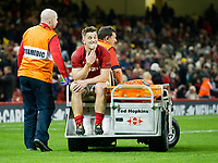 Rugby Union - 2017 Under Armour Series (Autumn Internationals) - Wales vs. Australia<br /> <br /> Jonathan Davies of Wales leaves the pitch on a buggy after being injured in the last minutes of the game , at The Principality Stadium (Millennium Stadium).<br /> <br /> COLORSPORT/WINSTON BYNORTH