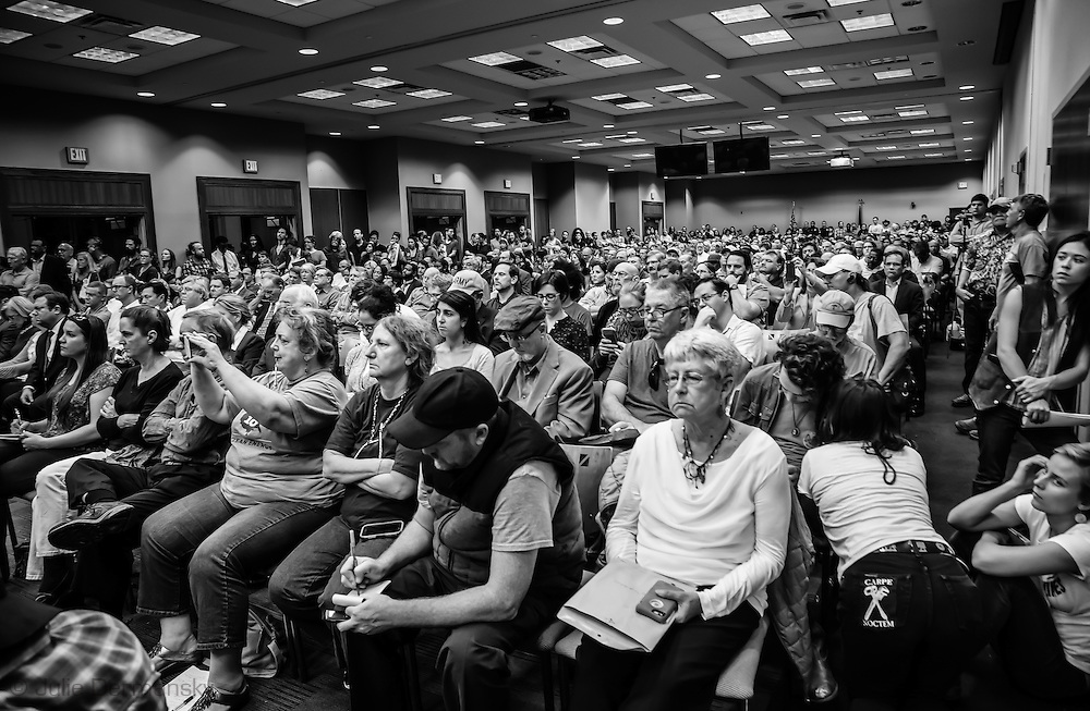 Full house at a permit hearing for the Bayou Bridge pipeline in Baton Rouge, LA on Jan 12, 207.
