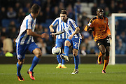 Brighton & Hove Albion midfielder Oliver Norwood (21) during the EFL Sky Bet Championship match between Brighton and Hove Albion and Wolverhampton Wanderers at the American Express Community Stadium, Brighton and Hove, England on 18 October 2016.