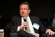 """Ron Bergamini, CEO, Action Carting, during the panel """"Trucks, Taxis, Rickshaws and More"""" during Manhattan Chamber of Commerce's Transportation Transformation Global Summit at NYIT in New York on April 26, 2012."""