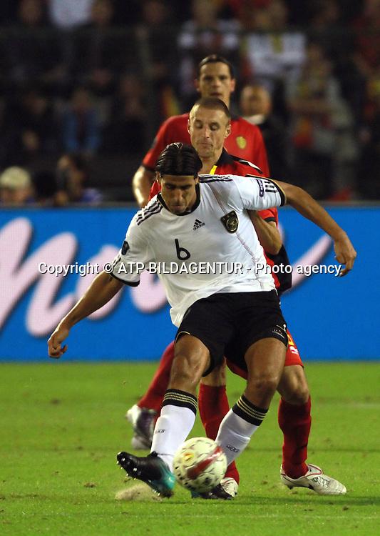 Khedira Sami <br /> Fussball  2010 - Football UEFA Euro Qualification, BELGIEN - DEUTSCHLAND - BELGIUM - GERMANY - Belgique - Allemagne  -03.09.2010. - fee liable image, Foto: &copy; ATP  Arthur THILL