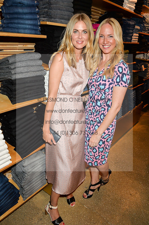 Left to right, DONNA AIR and ROSIE NIXON at a party to celebrate the paperback lauch of The Stylist by Rosie Nixon hosted by Donna Ida at her store at 106 Draycott Avenue, London on 17th August 2016.