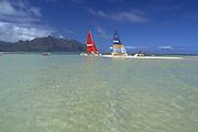 Kaneohe Bay, Kaneohe, Oahu, Hawaii USA<br />