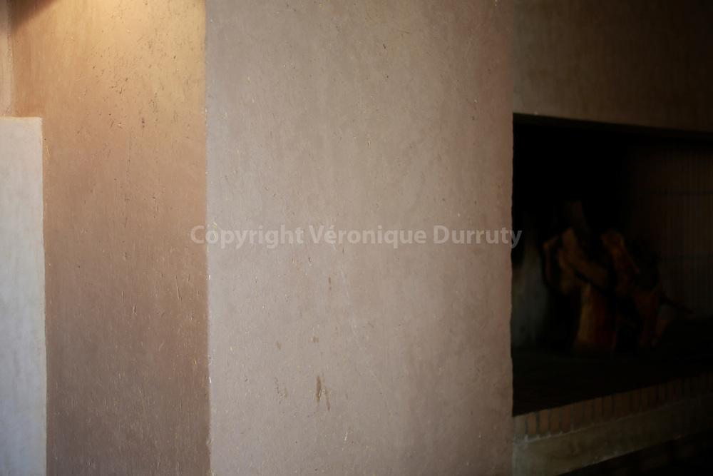 "Détail de décoration d'une villa de  l'Hotel ""Dar Ahlam"", Oasis de Skoura, Sud Maroc // ""Dar Ahlam"" hotel, Skoura oasis, southern Morocco"