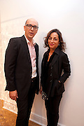 ROBERT DEVCIC; MARINA WALLACE, Relics of the Mind.- Private view of work by Katharine Dowson. GV Art, 49 Chiltern st. London. W1. 16 September 2010. -DO NOT ARCHIVE-© Copyright Photograph by Dafydd Jones. 248 Clapham Rd. London SW9 0PZ. Tel 0207 820 0771. www.dafjones.com.