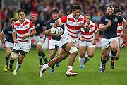 Japan's Amanaki Mafi during the Rugby World Cup Pool B match between Scotland and Japan at the Kingsholm Stadium, Gloucester, United Kingdom on 23 September 2015. Photo by Shane Healey.