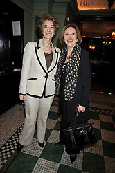 Left to right, MAUREEN LIPMAN and JOAN BAKEWELL at the 2009 Oldie of The Year Award lunch held at Simpson's in The Strand, London on 24th February 2009.