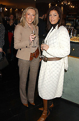 Left to right, MANDY DOUEK and REGINE ELLIS at the 1st Baglioni Hotel's Designer Lunch featuring designs by Amanda Wakelel held at The Baglioni Hotel, 60 Hyde Park gate, London on 1st February 2006.<br />