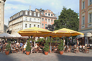 Cafe in the Old Town Square<br /> Riga, Latvia<br /> c. Ellen Rooney