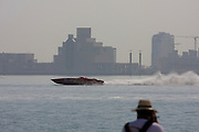 Training for the 2007 Powerboat Class 1 Grand Prix in front of the Corniche.
