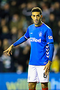 Connor Goldson (#6) of Rangers during the Ladbrokes Scottish Premiership match between Hibernian and Rangers at Easter Road, Edinburgh, Scotland on 19 December 2018.