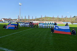Starting eleven of Slovenia and Iceland prior women football match between National teams of Slovenia and Iceland in 2019 FIFA Women's World Cup qualification, on April 06, 2018 in Sportni park Lendava, Lendava, Slovenia. Photo by Mario Horvat / Sportida