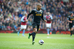 BIRMINGHAM, ENGLAND - Easter Sunday, March 31, 2013: Liverpool's Glen Johnson in action against Aston Villa during the Premiership match at Villa Park. (Pic by David Rawcliffe/Propaganda)