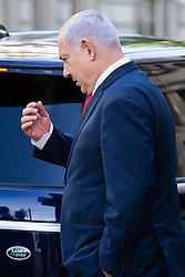 Israeli Prime Minister Benjamin Netanyahu leaves the Ministry of Defence in London following a meeting during his 'surprise visit' to the UK. London, September 05 2019.