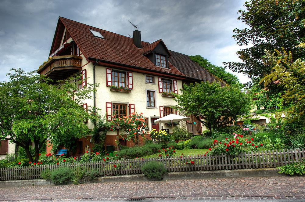 House with flower garden in Gaienhofen