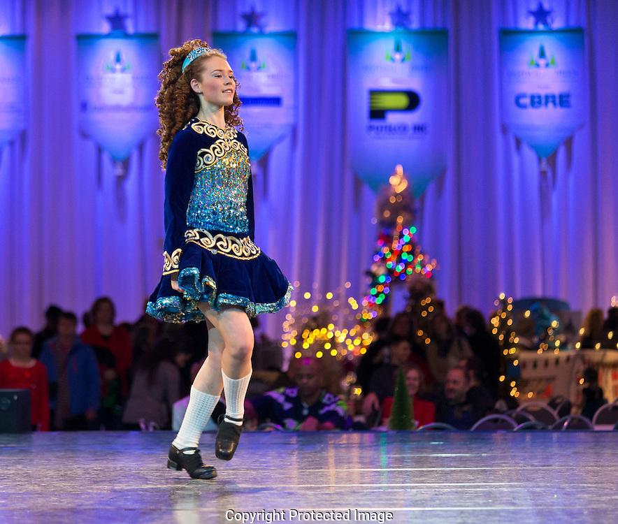 SRS Irish Dancers at Festival of Trees in Tacoma WA on Sunday, Dec. 8, 2013. (Photo/John Froschauer)