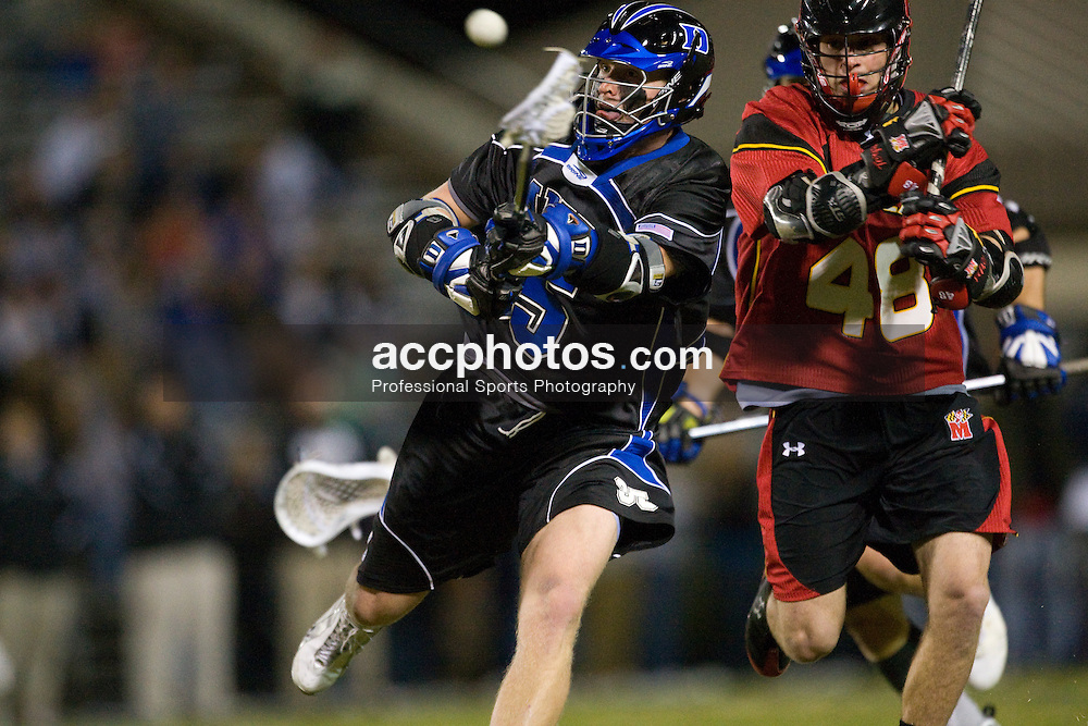 01 March 2008: Duke Blue Devils men's lacrosse defenseman Parker McKee (35) in a 15-7 win over the Maryland Terrapins at Koskinen Stadium in Durham, NC