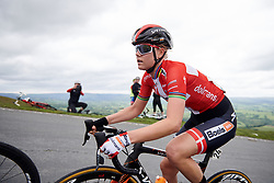 Amalie Dideriksen (DEN) with 100 metres to the top of Epynt, the final climb on Stage 5 of 2019 OVO Women's Tour, a 140 km road race from Llandrindod Wells to Builth Wells, United Kingdom on June 14, 2019. Photo by Sean Robinson/velofocus.com