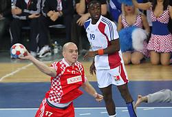 Goran Sprem (17) of Croatia during the 21st Men's World Handball Championship 2009 Bronze gold match between National teams of France and Croatia, on February 1, 2009, in Arena Zagreb, Zagreb, Croatia.  (Photo by Vid Ponikvar / Sportida)