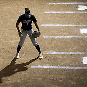 Player of the Fullerton college women's softball team in softball match at Fullerton College in Fullerton, Calif., on Friday November 4, 2016. (© Ella DeGea / Sports Shooter Academy 2016)