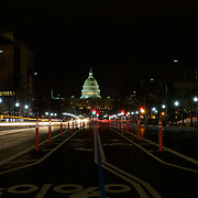 Crossing Pennsylvania avenue at night in the Federal triangle reveals a quiet city, a complete contrast to the daytime!