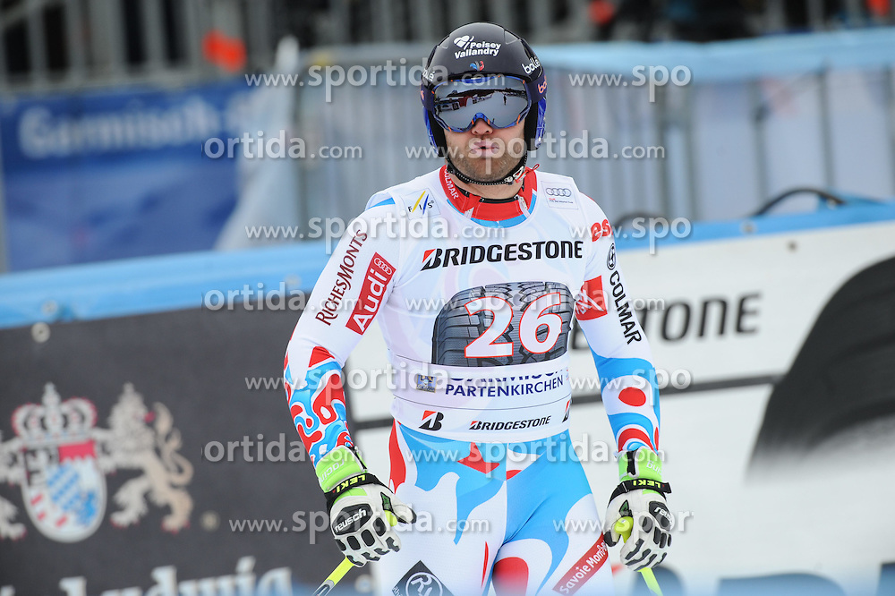 27.02.2015, Kandahar, Garmisch Partenkirchen, GER, FIS Weltcup Ski Alpin, Abfahrt, Herren, 2. Training, im Bild David Poisson of France // during the 2nd trainings run for the men's Downhill of the FIS Ski Alpine World Cup at the Kandahar in Garmisch Partenkirchen, Germany on 2015/02/27. EXPA Pictures © 2015, PhotoCredit: EXPA/ Erich Spiess