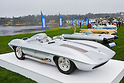 General Motors displays a collection of Concept Cars from the Motorama of the mid 1950s on the 18th Green of the 2008 Pebble Beach Concours de Elegance. 1959 Chevrolet Corvette Stingray Racer Special.