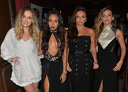 Perrie Edwards, Leigh-Anne Pinnock, Jesy Nelson and Jade Thirlwall arriving at the Little Mix 'Black Magic' party at Steam & Rye in London, UK. 20/07/2015<br /> BYLINE MUST READ : GOTCHAIMAGES.COM<br /> <br /> Copyright by © Gotcha Images Ltd. All rights reserved.<br /> Usage of this image is conditional upon the acceptance <br /> of Gotcha Images Ltd, terms and conditions available at<br /> www.gotchaimages.com