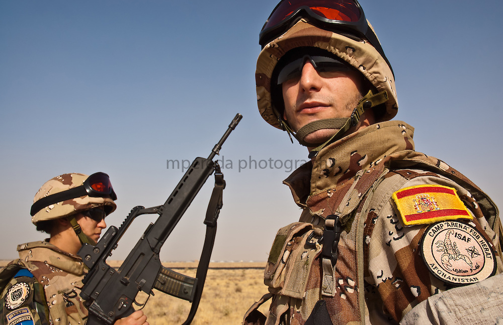 Spanish soldiers in Herat, Afghanistan.