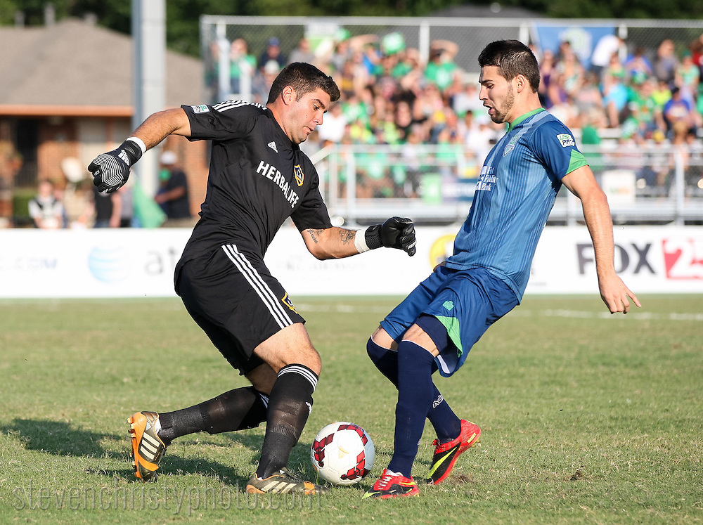 July 19, 2014: The OKC Energy FC plays the LA Galaxy II in a USL Pro game at Pribil Stadium in Oklahoma City, Oklahoma.