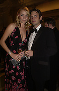 Jodie Kidd and her husband Aiden Butler. British Fashion awards 2005. V. & A. Museum. Cromwell Rd. London.   10  November 2005 . ONE TIME USE ONLY - DO NOT ARCHIVE © Copyright Photograph by Dafydd Jones 66 Stockwell Park Rd. London SW9 0DA Tel 020 7733 0108 www.dafjones.com