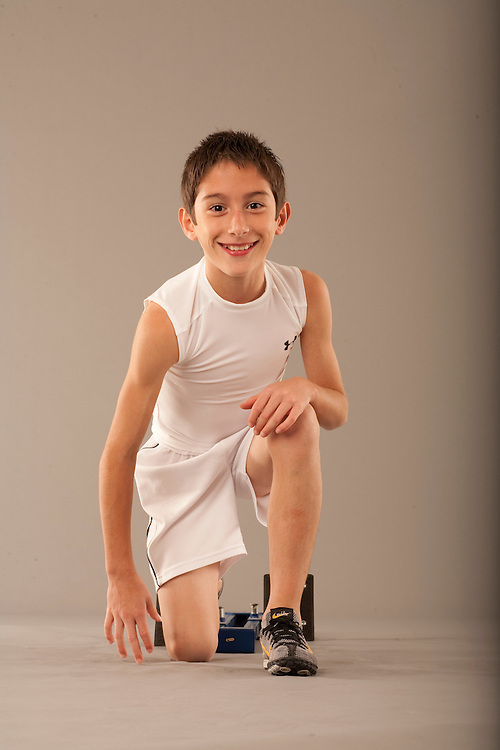 X84866-S.I. Kids Sportskid of the Year finalist Lucas Bourgoyne, photographed at Houston's First Baptist Church in Houston, Texas on October 13 2010. Photograph © 2010 Darren Carroll.