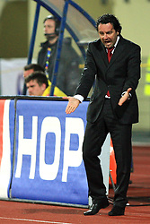 Coach of Domzale Slavisa Stojanovic at 30th Round of Slovenian First League football match between NK Domzale and NK MIK CM Celje in Sports park Domzale, on April 25, 2009, in Domzale, Slovenia. Celje won 3:0. (Photo by Vid Ponikvar / Sportida)