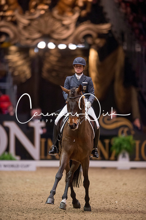 Werth Isabell (GER) - Don Johnson 14<br /> Kur - Reem Acra FEI World Cup Dressage Qualifier - The London International Horse Show Olympia - London 2012<br /> © Hippo Foto - Jon Stroud